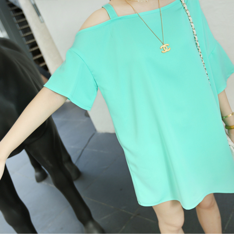 Strapless batwing sleeve loose long design one piece dress mint green white black 7300-inDresses from Apparel & Accessories on Aliexpress.com