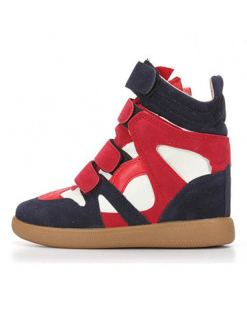Velc Strap Wedge Hi-Tops   Outfit Made