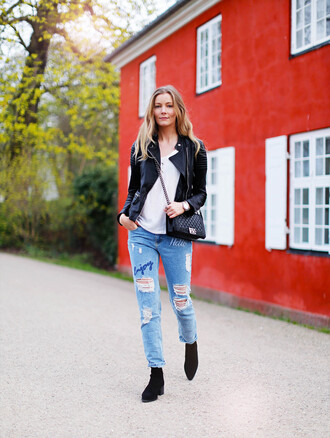 passions for fashion blogger jacket t-shirt jeans shoes jewels bag