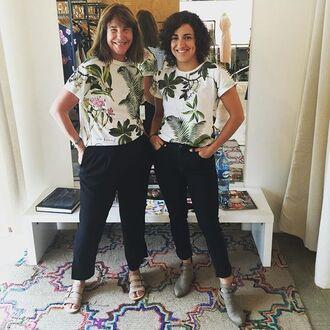 t-shirt yeah bunny tropical tee jungle print jungle leaf print jungle palm tree print