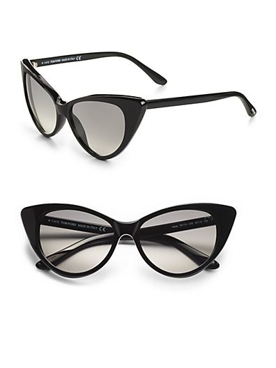 Tom Ford Eyewear - Nikita Cat's-Eye Sunglasses/Black - Saks.com
