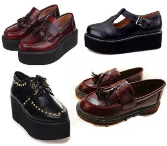 platform shoes style shoes fashion creepers moccasins pretty