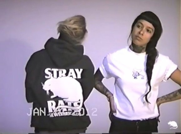tumblr white sweater rats hoodie black