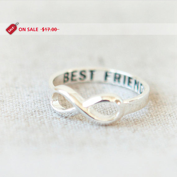 ON SALE  Best Friends Infinity Ring in silver by laonato on Etsy
