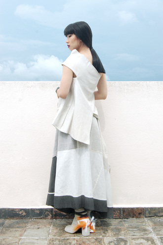 blogger dress asymmetrical the rosenrot
