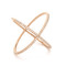 Ef collection pave rose gold diamond x ring - rose gold/clear