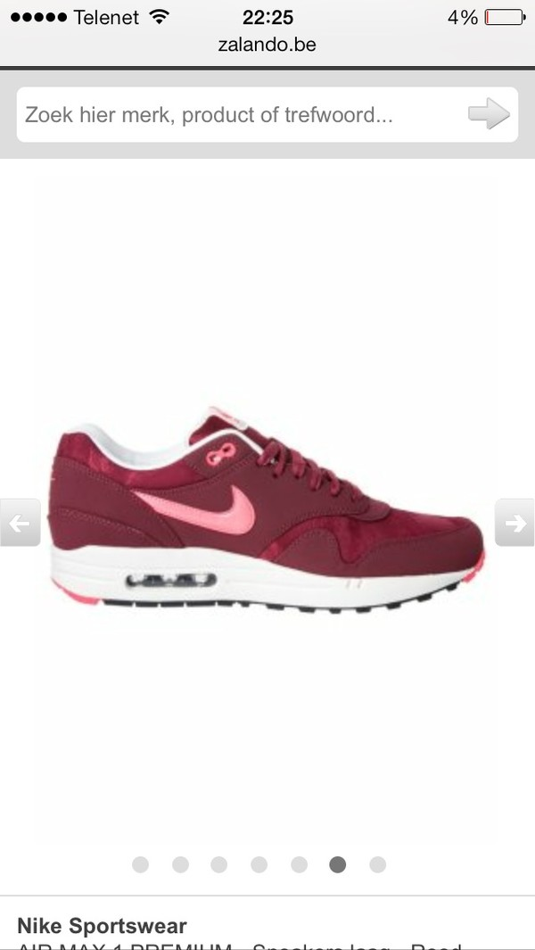 shoes air max nike red rose