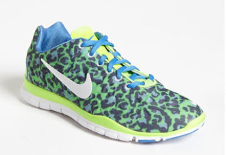 shoes leopard print sneakers nike neon bright