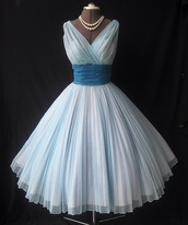 dress,white,vintage,beautiful,gorgeous,tumblr,prom dress,homecoming dress,formal dress,blue,pretty,fashion,dark blue,light blue dress,light blue,light blue dresses,blue dress,classy,blue skirt,high heels,chiffon,chiffon dress,prom,ball gown dress,ball,cute,cute dress,vintage dress,1950 vintage,50s style,bridesmaid