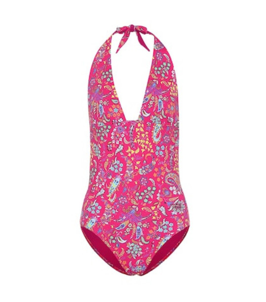 Etro Printed halter swimsuit