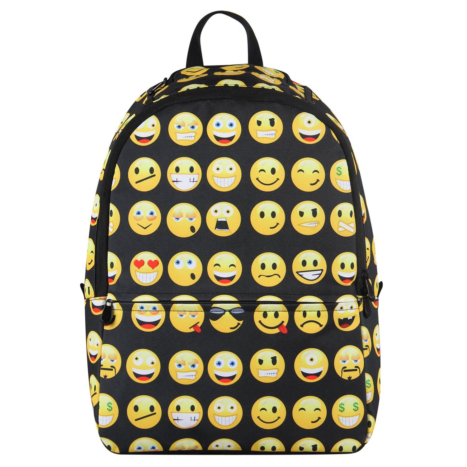 Amazon.com: Hynes Eagle New Fashion Designer Backpack Smiling Face Casual Daypacks Emoji School Book Bags (Black): Clothing