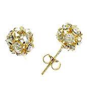 jewels,raf rossi gold plated,earrings studs,earrings