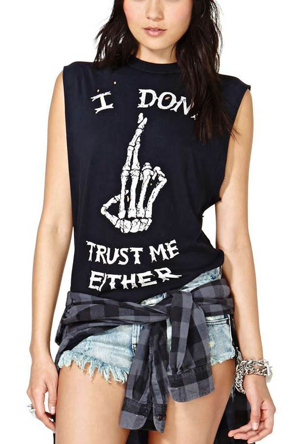 Black I Don't Trust Me Either Tank