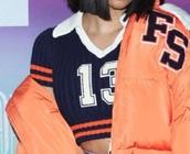 shirt,cardi,blue,cute,sweater,13,number,crop,top,cardi b,puma x rihanna