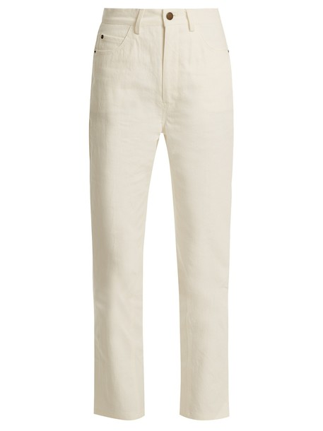 Apiece Apart jeans high cream