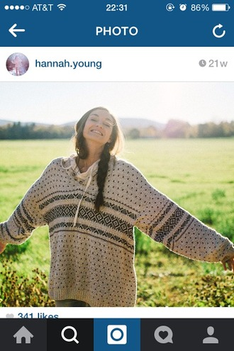 sweater patterned boho cozy homemade casual
