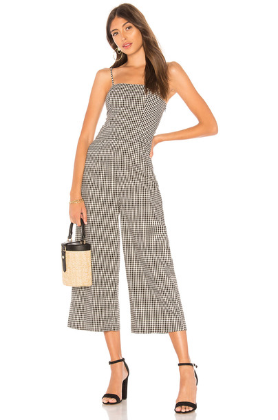 HEARTLOOM Molly Jumpsuit in black / white