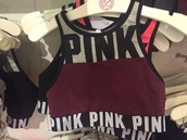 top,bra,pink,victoria's secret,pink vs,racerback