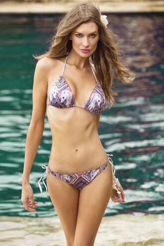 swimwear bikini blue paradizia swim print purple bikiniluxe