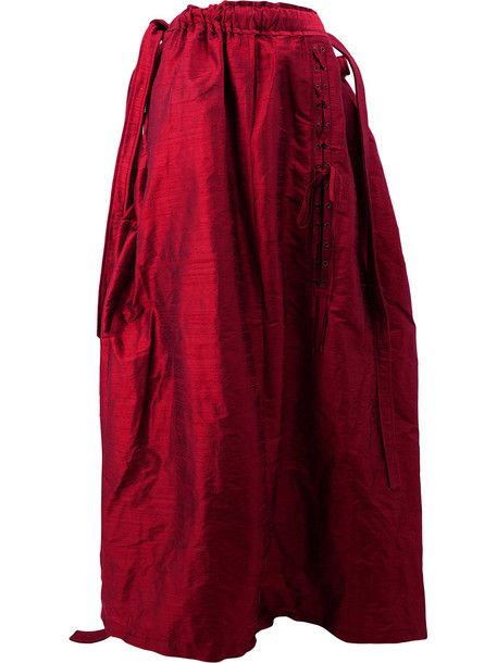 Y / Project skirt maxi skirt maxi oversized women silk red