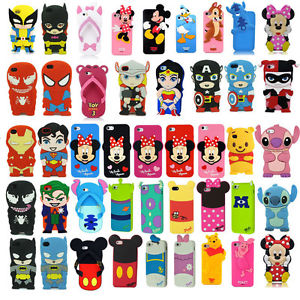 huge discount 224a6 c4618 3D Cartoon Superhero Soft Silicone Rubber Case Cover For Apple & Samsung  Galaxy