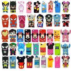 huge discount 35191 cbe9a 3D Cartoon Superhero Soft Silicone Rubber Case Cover For Apple & Samsung  Galaxy