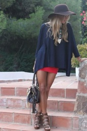 shirt,black,long loose,loose shirt,shirt goes with skirt,shoes,skirt,red,mini skirt,tight red skirt,blouse,red skirt,pinterest,flowy top,wedges,cute outfits