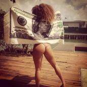 shirt,swimwear,towel,beach towel,money,summer,funny,swag,urban,sexy,dollar,one hundred dollars,100 dollars,dollar sign