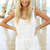 White Jump Suits/Rompers - White Crotchet Look Playsuit with | UsTrendy