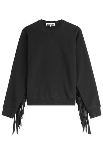 sweatshirt cotton black sweater