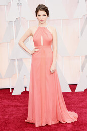 dress,oscars 2015,gown,anna kendrick,red carpet dress,prom dress,classy