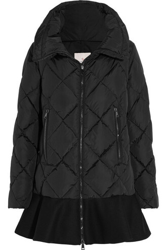 jacket down jacket shell quilted black