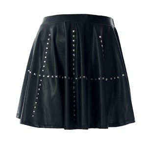 Stud Faux Leather Skater Skirt | AlterEgoCLT | your PLUS SIZE fashion marketplace & community!