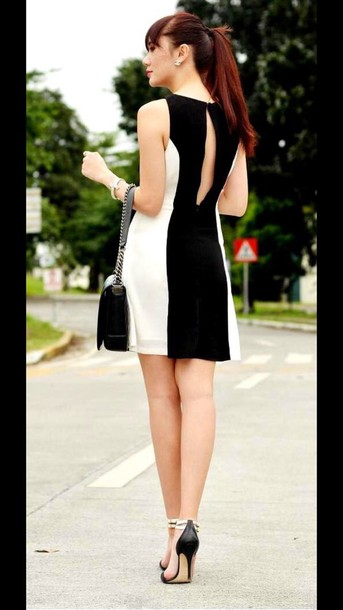 dress black and white dress black and white