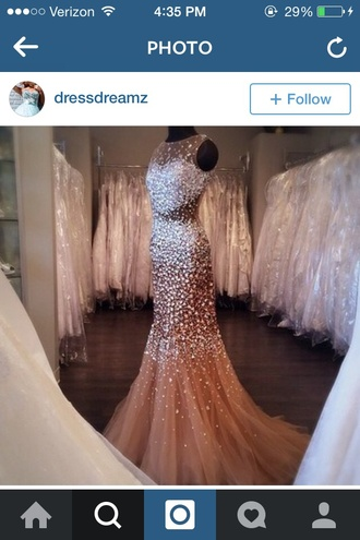 dress nude dress prom dress sparkly dress