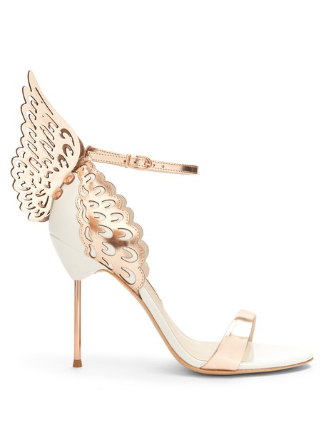 Sophia Webster angel sandals leather sandals leather gold white shoes