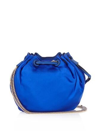 mini love bag bucket bag blue