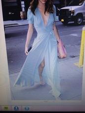 dress,blue,long,maxi,short sleeve,cut
