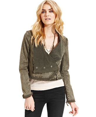 Free People Asymmetrical Denim Jacket - Jackets & Blazers - Women - Macy's