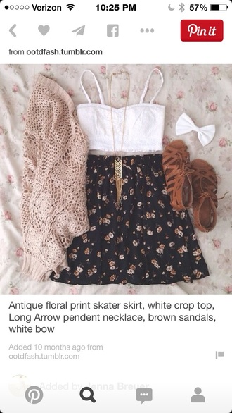 shirt cute top ilovethis spring outfit shoes pintrest crop tops cardigan skirt