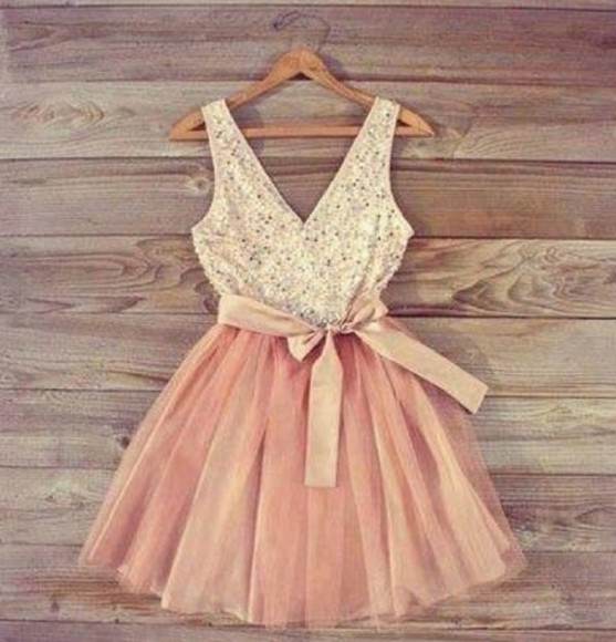 dress pink dress sequin tutu dress
