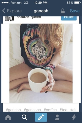 tank top ganesha shirt help me find this colorful trippy elephant coffee
