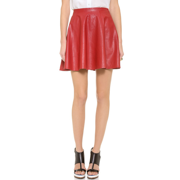 Lovers   Friends Monica Rose Charlie Leather Skirt - Polyvore