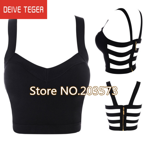 (DEIVE TEGER )free shipping  2013  new black cut out crop top   bandage women top lady's camis  HL683-in Camis from Apparel & Accessories on Aliexpress.com