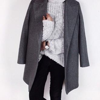coat grey coat long coat