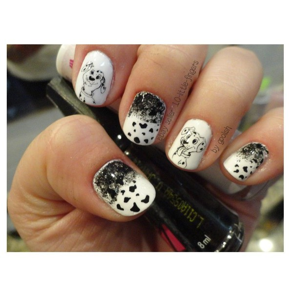 nail accessories decoration nails nail art manicure pedicure hot trendy dog dalmatian puppy spots polka dots stickers decals diy