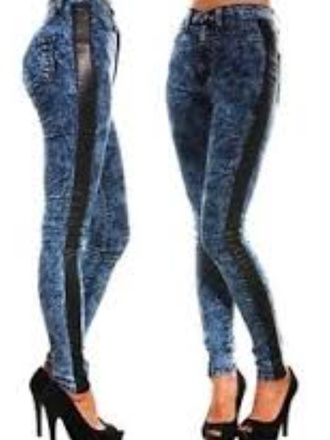 jeans skinny jeans leather on side dark colored acid washed skinny jeans