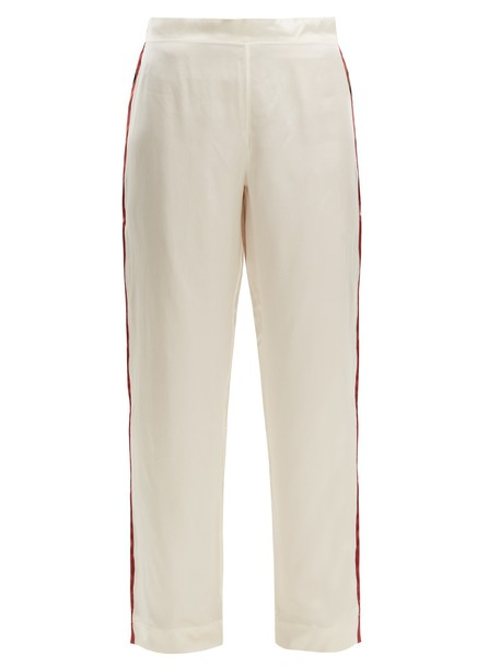 Asceno silk satin pants
