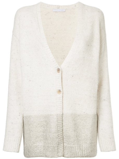 Fabiana Filippi cardigan cardigan metallic women white sweater