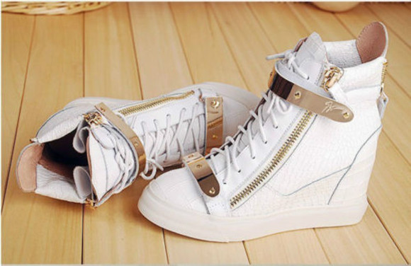 shoes sneakers high top sneaker high heels high heels, black, gold, sandals, sneakers, white, gold